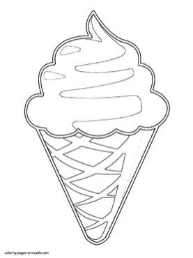 Ice Cream Coloring Pages Printable 895p