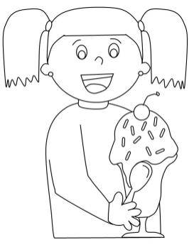 Ice Cream Coloring Pages for Kids 654e