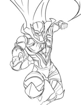 Marvel Black Panther Coloring Pages srp0