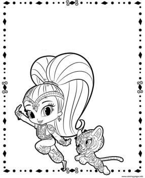 Shimmer and Shine Coloring Pages Printable chx3