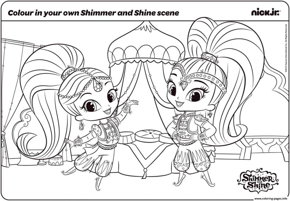 Shimmer and Shine Coloring Pages - Best Coloring Pages For Kids | 664x960