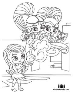 Shimmer and Shine Coloring Pages to Print cvf4