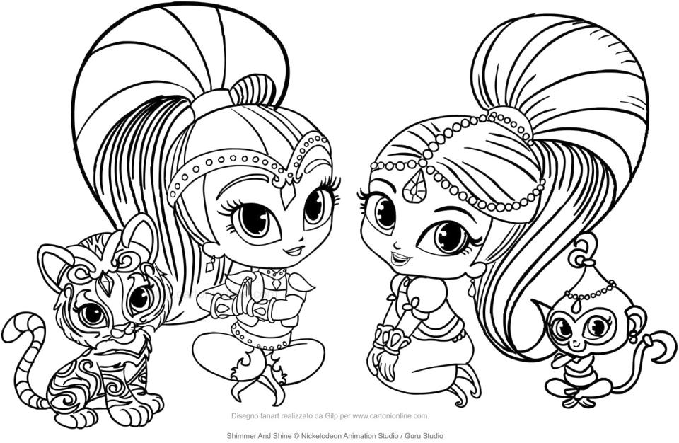 Get This Shimmer and Shine Coloring Pages to Print jkl4