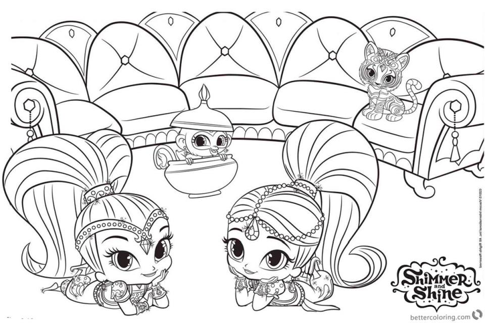 20+ Free Printable Shimmer And Shine Coloring Pages - EverFreeColoring.com