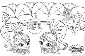 Shimmer and Shine Coloring Pages to Print rdf0