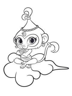 Shimmer and Shine Coloring Pages xzb5
