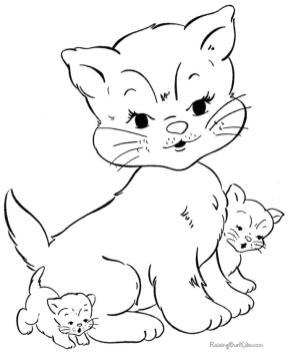 cat coloring pages free to print bm691