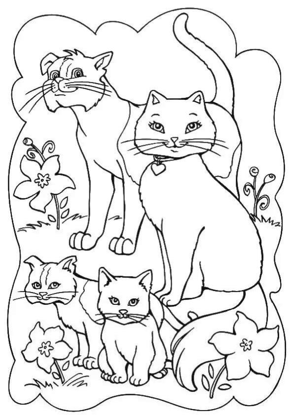 cat coloring pages to print bvh50