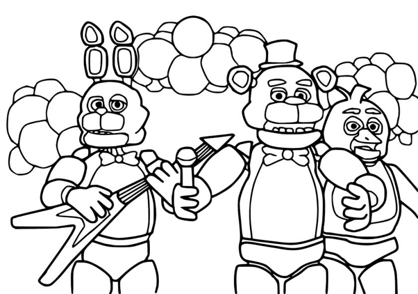 It's just a graphic of Fnaf Coloring Pages Printable inside ultimate custom night