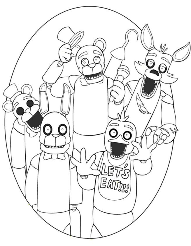 fnaf coloring pages printable nc04