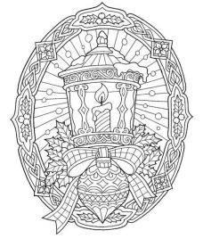 Adult Christmas Coloring Pages Free Printable Candle Light ntp2