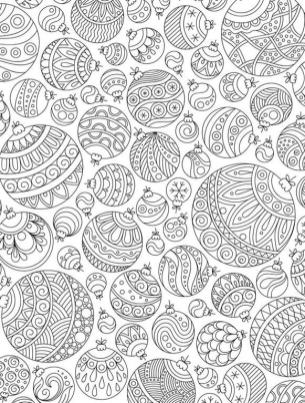 Adult Christmas Coloring Pages Free Printable Christmas Ornaments pls1