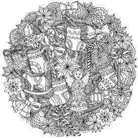 Adult Christmas Coloring Pages Free to Print Complex Ornament Mandala ojv7