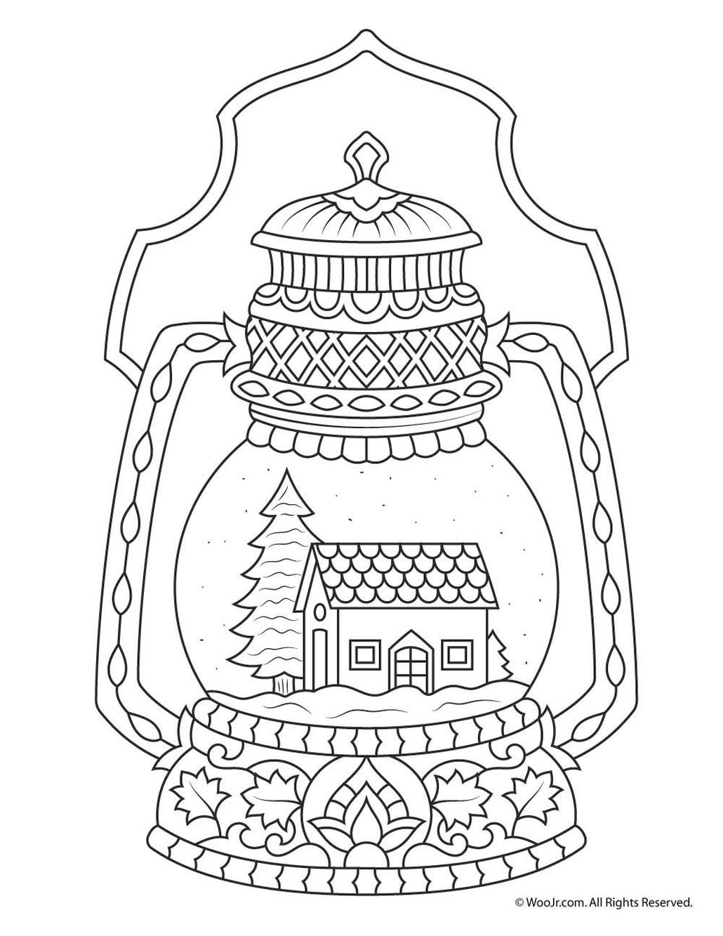 Adult Christmas Coloring Pages Printable glb8