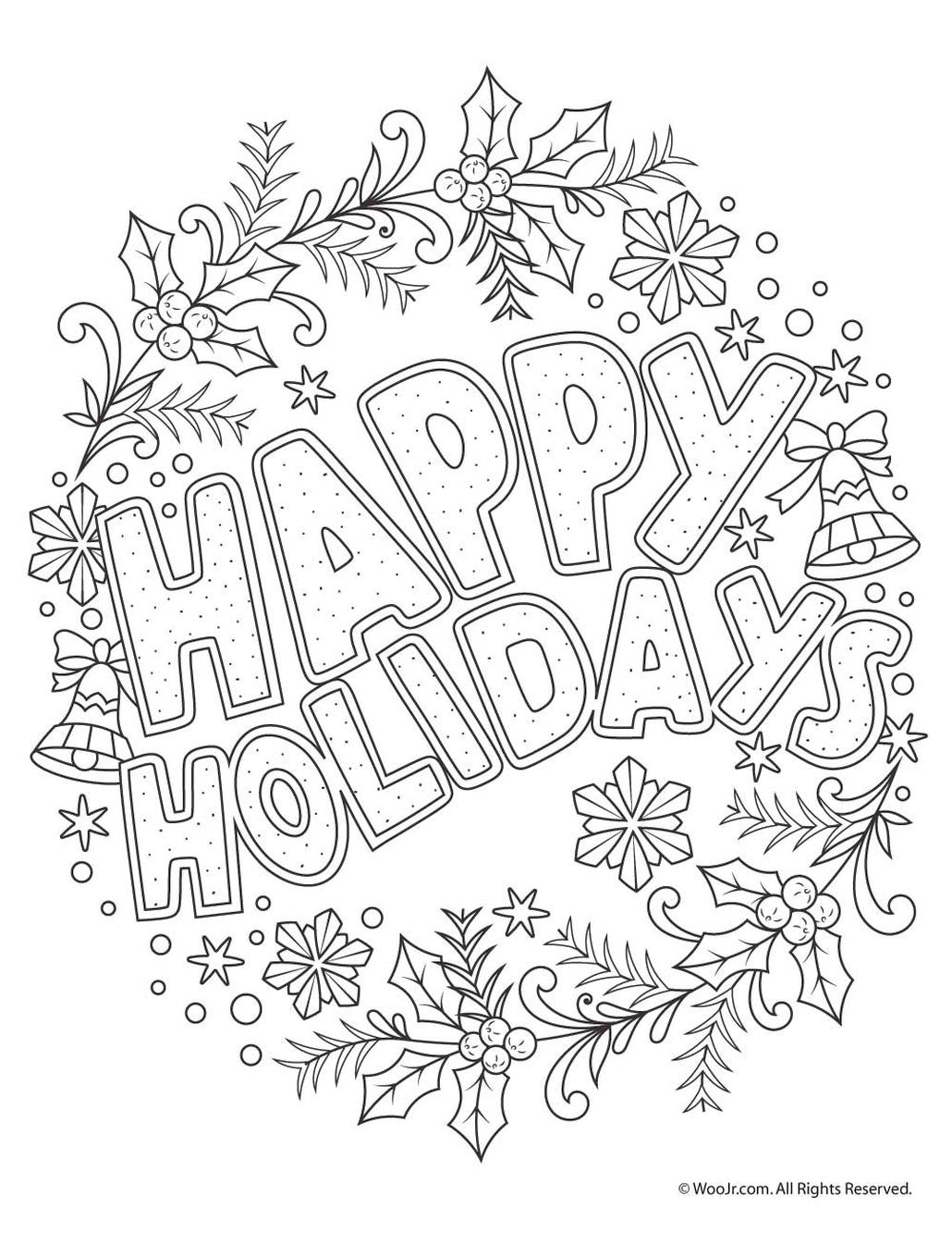 Get This Adult Christmas Coloring Pages Printable hld6