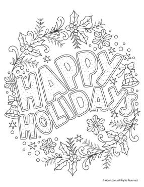 Adult Christmas Coloring Pages Printable hld6