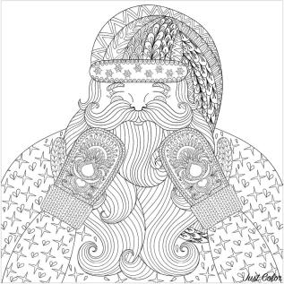 Adult Christmas Coloring Pages snt4