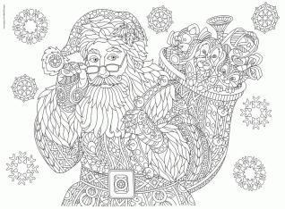 Adult Christmas Coloring Pages to Print Santa Clause jkl2