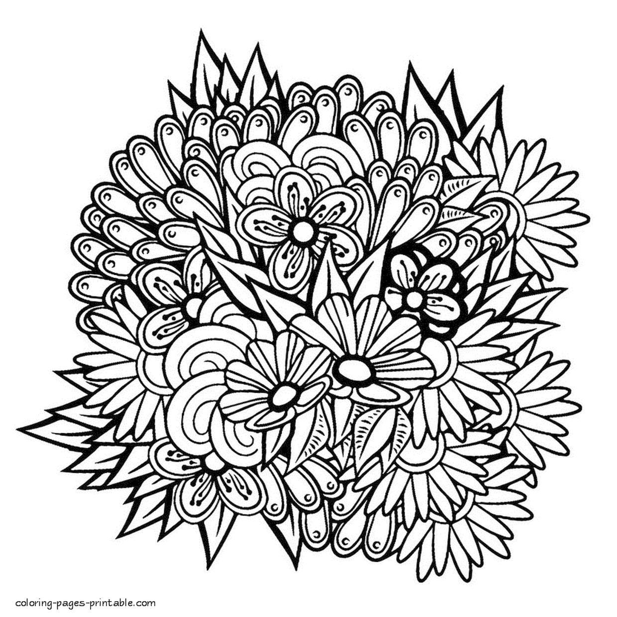 Adult Coloring Pages Floral Patterns Printable ujk1