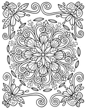 Adult Coloring Pages Patterns Flowers hjk1
