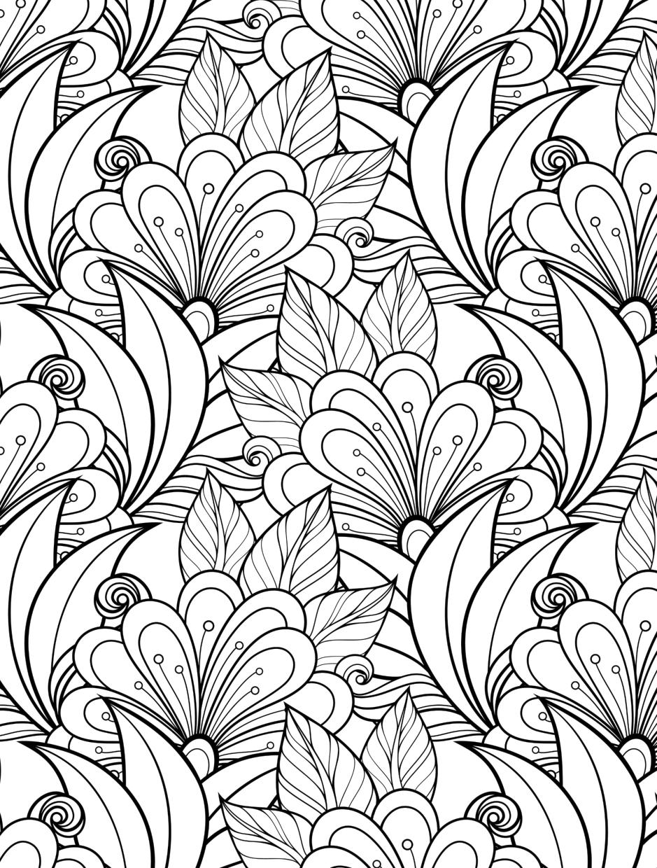 20+ Free Printable Adult Coloring Pages Patterns Flowers ...