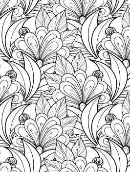 Adult Coloring Pages Patterns Flowers kdz6
