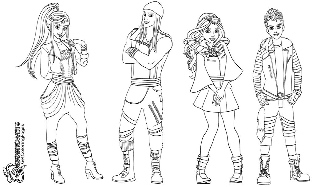 Descendants Coloring Pages Printable frd1