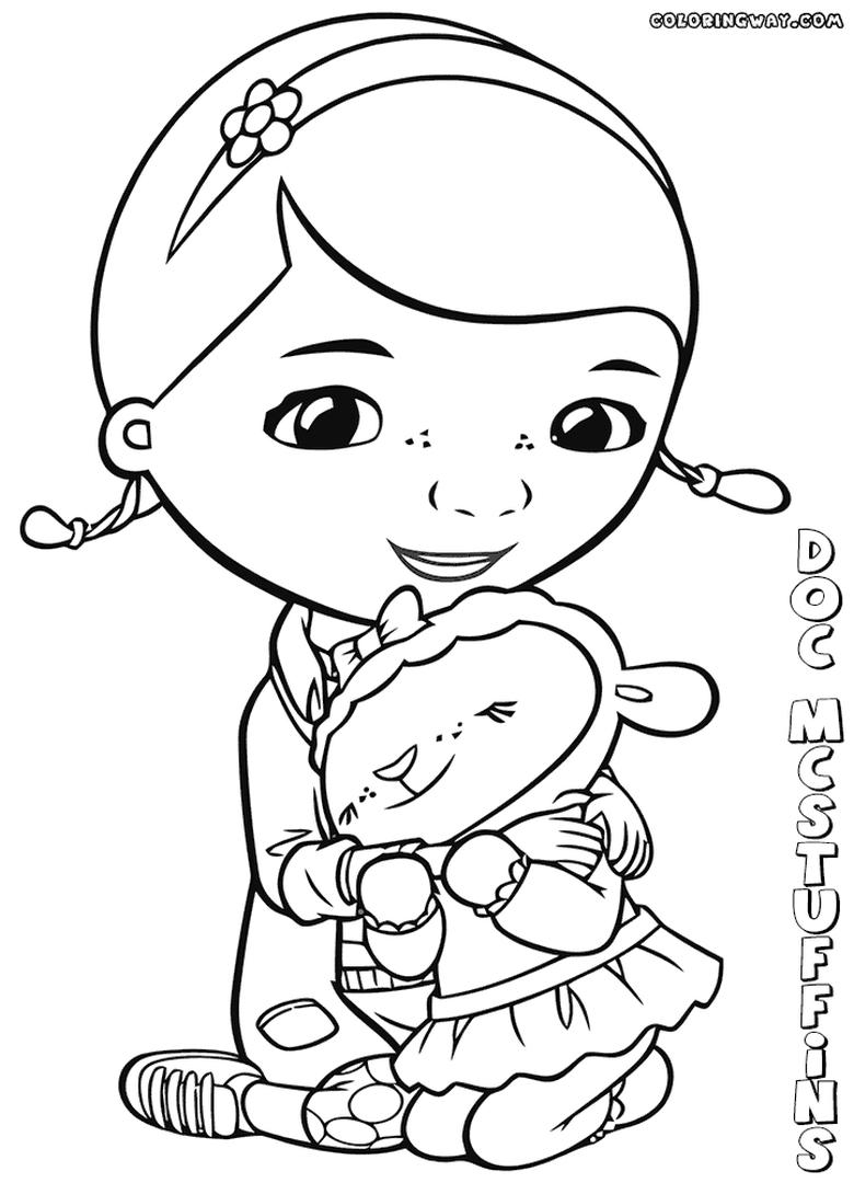 Doc McStuffins Coloring Pages Disney Printable lov7
