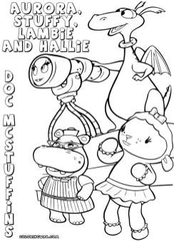 Doc McStuffins Coloring Pages Disney Printable yay0