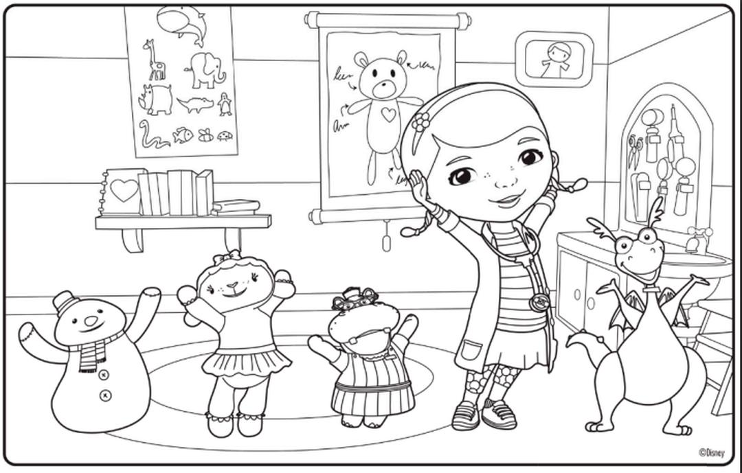 Doc McStuffins Coloring Pages Free cri4