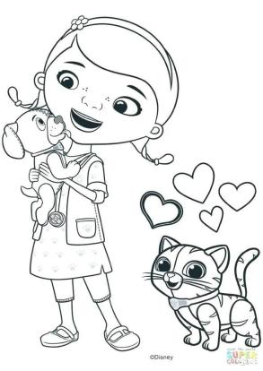 Doc McStuffins Coloring Pages for Girls ctd2