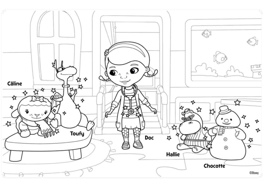 Doc McStuffins Coloring Pages for Kids hpy8