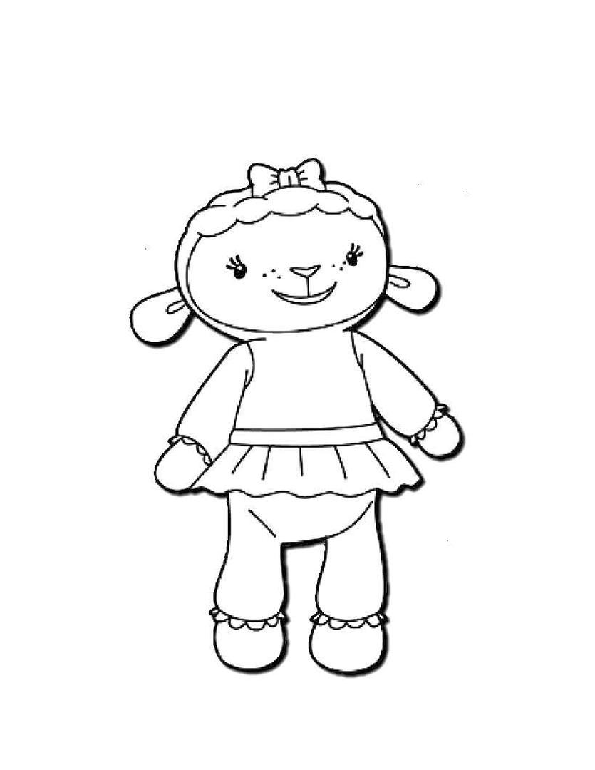 Doc McStuffins Coloring Pages for Kids shp0