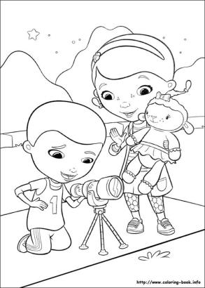 Doc McStuffins Coloring Pages tlc1