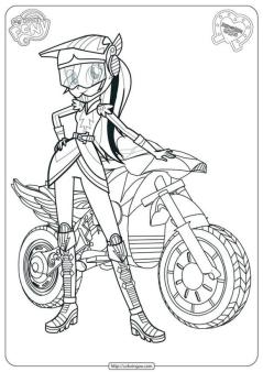 Equestria Girls Coloring Pages Rainbow Dash and Motorsport