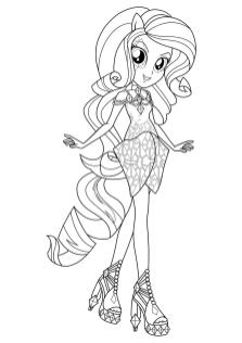 Equestria Girls Coloring Pages Rarity Beautiful