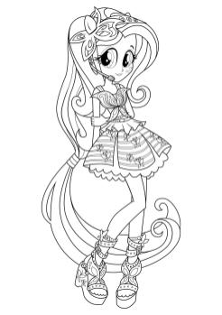 Equestria Girls Coloring Pages Young Idol