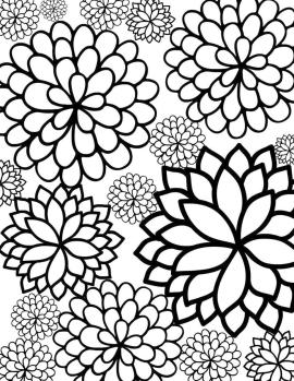 Floral Pattern Coloring Pages for Adult Free rtf5