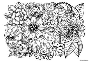 Flower Coloring Pages for Adults Floral Patterns itw1