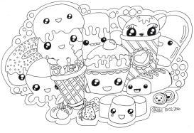 Food Kawaii Coloring Pages Free to Print