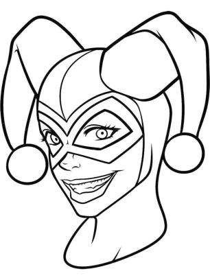 Harley Quinn Coloring Pages Free 9lpd