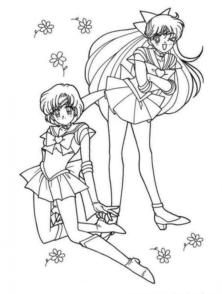 Kawaii Coloring Pages Anime Girl Sailor Moon