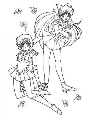 Kawaii Coloring Pages Anime Girl Sailor Moon