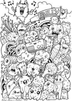 Kawaii Coloring Pages Free Printable Doodle Art