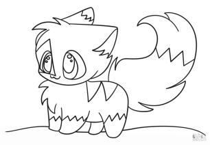 Kawaii Cute Animal Coloring Pages