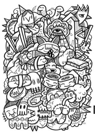 Kawaii Doodle Coloring Pages for Adults