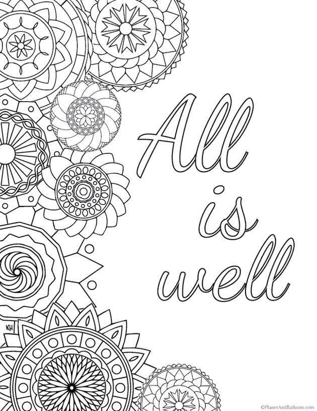 Printable Adult Coloring Pages Quotes Robertdee Org