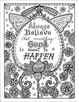 Printable Adult Coloring Pages Quotes Always Believe