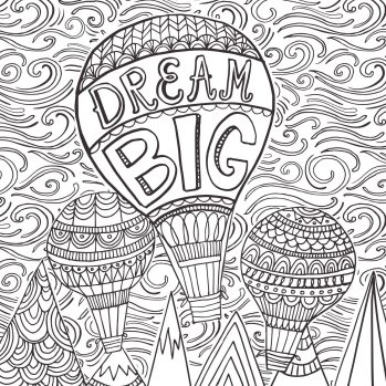 Printable Adult Coloring Pages Quotes Dream Big