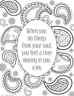 Printable Adult Coloring Pages Quotes Joy